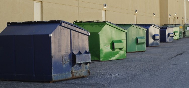 What can you throw in a dumpster?