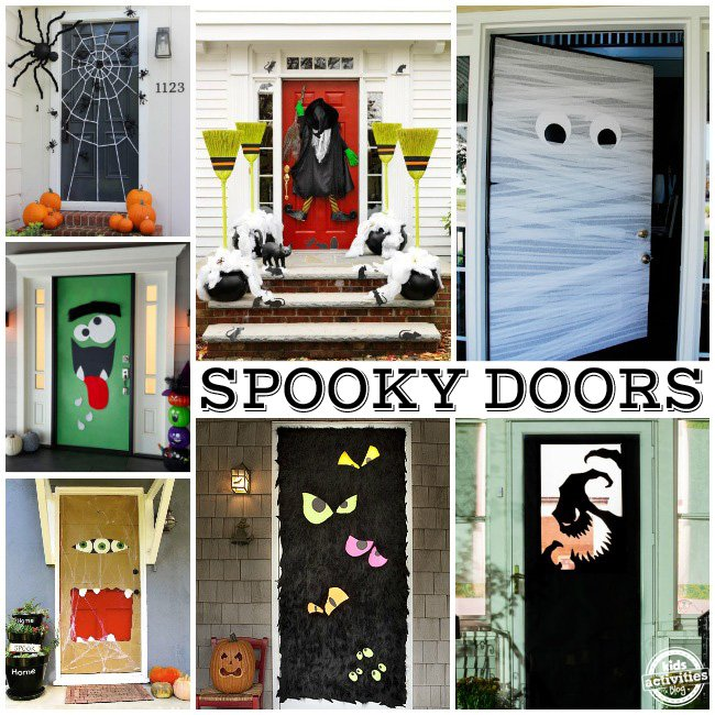 spooky doors consider decorating - Decorating Front Door For Halloween